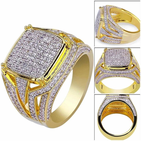 67be724c635a Gift idea Gold men ring cubic zircon 8